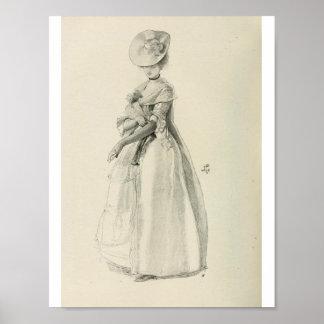 Señora Fashion del Victorian Póster