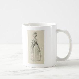 Señora Fashion del Victorian Taza Clásica