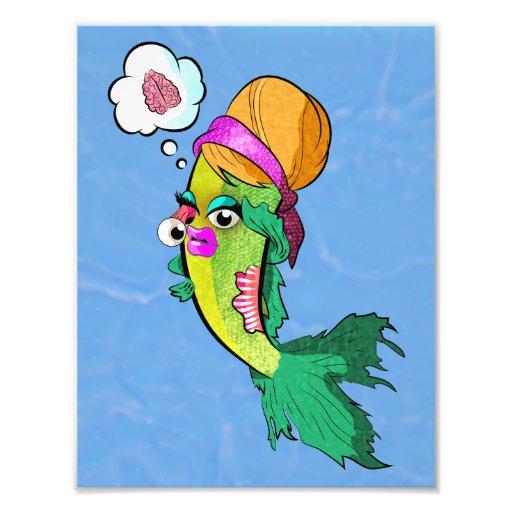 Señora Fish Poster del zombi Fotografía