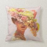 Señora floral del Victorian del gorra de la almoha Cojines