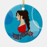 Señora Fortune With Blue Color Ornamento Para Reyes Magos