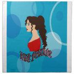 Señora Fortune With Blue Color Servilletas Imprimidas