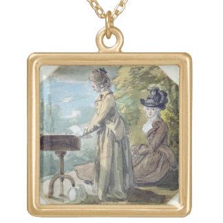 Señora Francisco Scott y señora Elliot, c.1770 (w/ Colgante Cuadrado