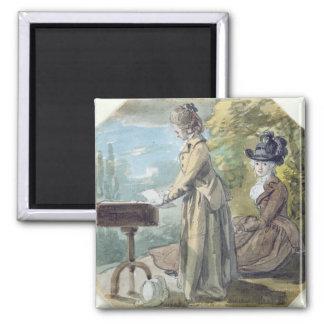 Señora Francisco Scott y señora Elliot, c.1770 (w/ Imán Para Frigorifico