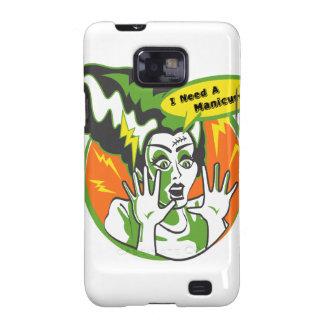 Señora Frankenstein Needs una manicura Samsung Galaxy S2 Carcasas
