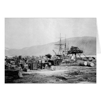 Señora Franklin Bay Expedition 1880s Felicitacion