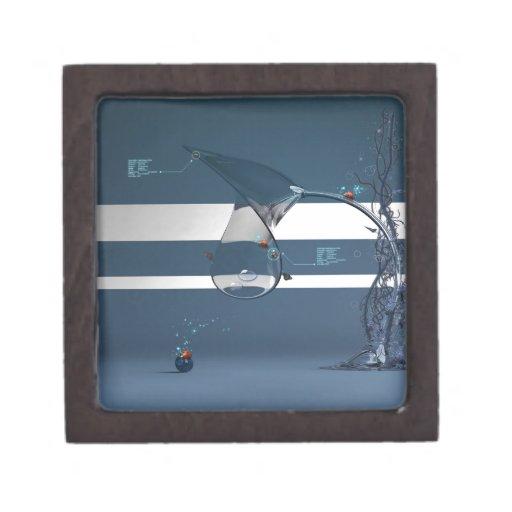 Señora fresca abstracta Bird Water Lamp Cajas De Joyas De Calidad