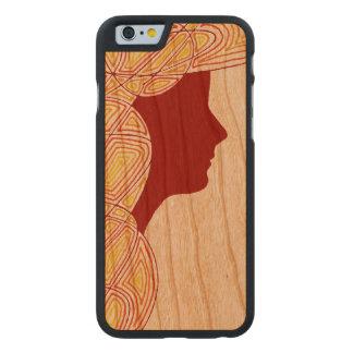 Señora Funda De iPhone 6 Carved® Slim De Cerezo
