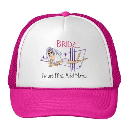 Señora futura Beach Bride Gorros Bordados