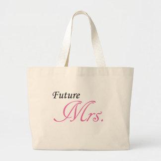 Señora futura bolsa tela grande