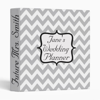 "Señora futura Chevron Wedding Planner Carpeta 1"""