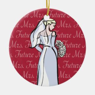 Señora futura adornos de navidad