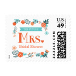 Señora futura Floral Bridal Shower Postage
