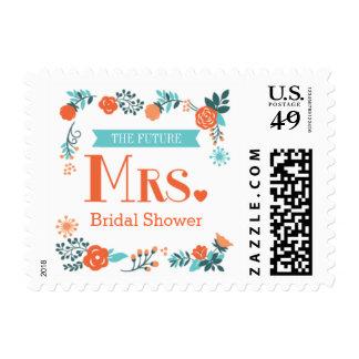 Señora futura Floral Bridal Shower Postage Envio