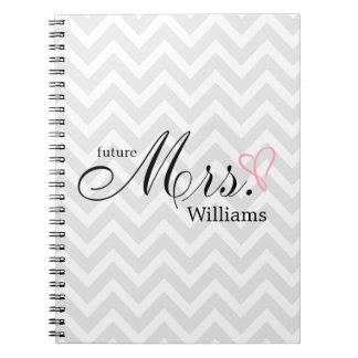 Señora futura garabateada rosa Wedding Planner del Cuaderno
