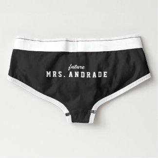 Señora futura Panties para el regalo nupcial de la Culottes