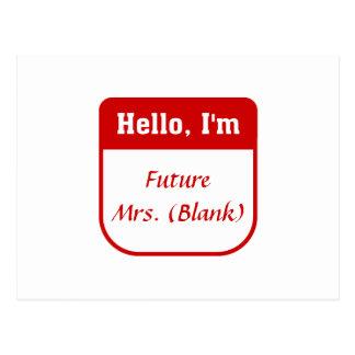 Señora futura T-shirt - personalizada Postal