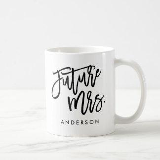 Señora futura taza de café