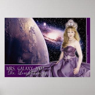 Señora Galaxy - púrpura Posters