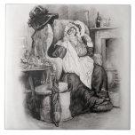 Señora Gamp, de 'Charles Dickens: Un chisme sobre  Azulejo Cuadrado Grande