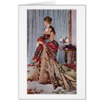 Señora Gaudibert By Claude Monet Tarjeta