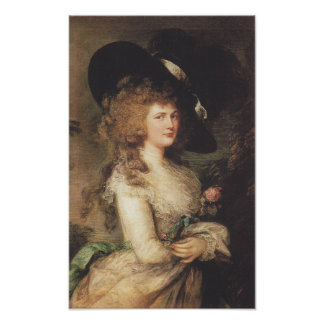 Señora Georgiana Cavendish de Thomas Gainsborough Póster