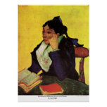 Señora Ginoux de L'Arlesienne con los libros de Va Posters