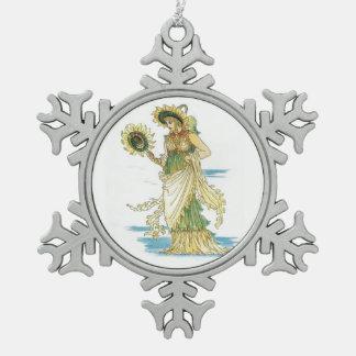 Señora Goddess del girasol del vintage Adorno