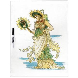 Señora Goddess Dry Erase Board del girasol del vin Pizarras Blancas De Calidad