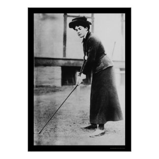 Señora Golf Champion, Dorothy Cambell 1909 Posters