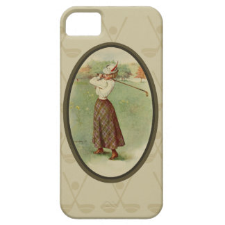 Señora Golfing Art (tres) del vintage iPhone 5 Cárcasas