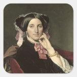 Señora Gonse, 1852 Calcomanía Cuadradase