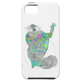 Señora gorda With A Fan iPhone 5 Case-Mate Protectores