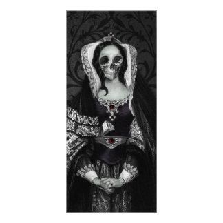 Señora gótica del cráneo diseños de tarjetas publicitarias