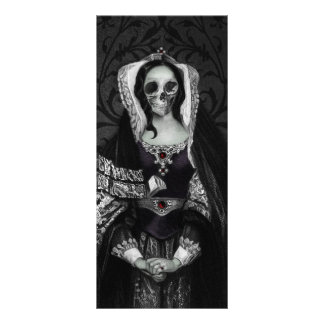 Señora gótica del cráneo tarjetas publicitarias personalizadas