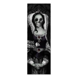 Señora gótica del cráneo tarjetas de visita mini