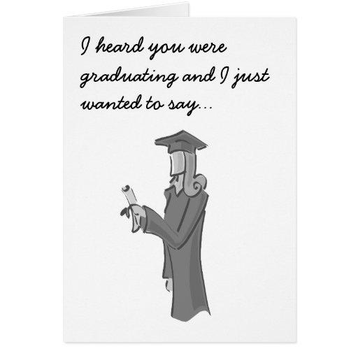 Señora Graduating Tarjetón