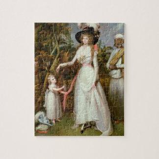 Señora Graham de Kinross, su hija y de un Jamadar, Puzzle