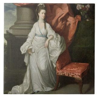 Señora Grant, esposa de sir James Grant, BT., 1770 Azulejo Cuadrado Grande
