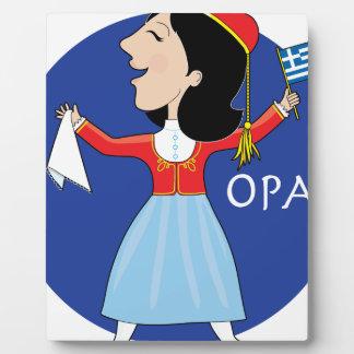 Señora griega Dancing Placa Para Mostrar
