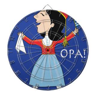 Señora griega Dancing Tabla Dardos