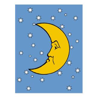 Señora gruñona Moon Postcard Tarjetas Postales