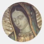Señora Guadalupe Pegatina Redonda