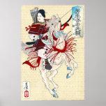 Señora Hangaku 1885 del samurai Posters