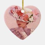 Señora Heart Christmas Ornament del Victorian del  Ornaments Para Arbol De Navidad