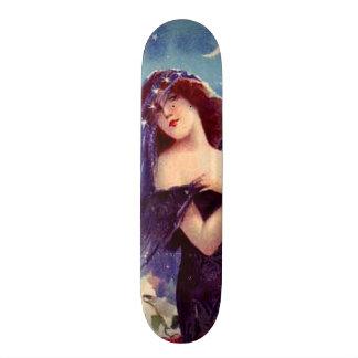 """Señora hermosa Art Nouveau Wall Board del vintage Patineta 7 1/4"""""""