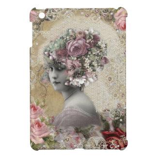 Señora hermosa del vintage con las joyas y las
