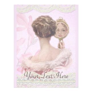 """Señora hermosa In Pink del vintage Folleto 8.5"""" X 11"""""""