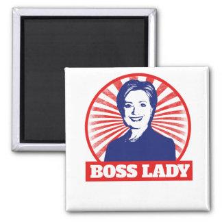 Señora Hillary Clinton 2016 de Boss Imán Cuadrado