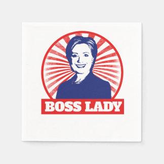 Señora Hillary Clinton 2016 de Boss Servilletas De Papel